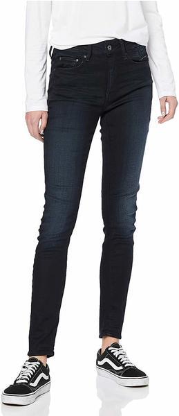 G-Star 3301 High Waist Skinny Jeans dark aged
