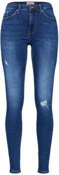 Only Paola HW Destroyed Skinny Fit Jeans medium blue denim