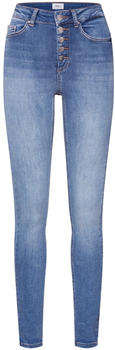 Only Blush HW Button Skinny Fit Jeans medium blue denim