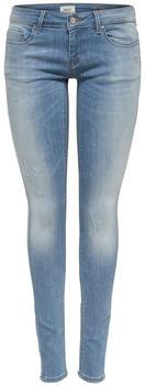 Only Coral Super Low Skinny Fit Jeans light blue denim