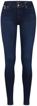 Only Lisa Red Zip Skinny Fit Jeans dark blue denim