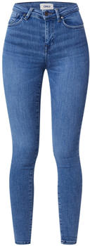 Only Power Mid Push Up Skinny Fit Jeans light blue denim