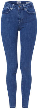 Only Power Mid Push Up Skinny Fit Jeans dark blue denim