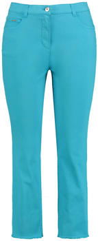 Samoon 7/8 Flared-Jeans Betty Jeans blau grün (140036-21144-8170)