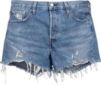Levi's 501 High Waisted Shorts (56327) athens mid short - blue