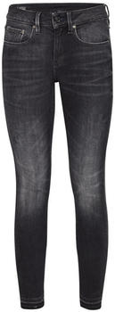 G-Star 3301 Mid Skinny Ripped Edge Ankle Jeans worn in corby black