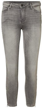 Noisy May Kimmy Cropped NW Skinny Fit Jeans light grey