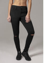 Urban Classics Ladies Cut Knee Pants (TB1538-00007-0005) black