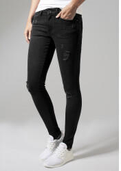 Urban Classics Ladies Ripped Denim Pants (TB1362-00709-0005) black washed
