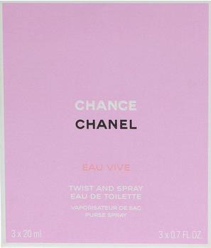 Chanel Chance Eau Vive Twist and Spray Eau de Toilette (3 x 20ml)