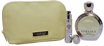 Versace Eros Pour Femme Eau de Toilette 100 ml + Eau de Toilette 10 ml + Kosmetiktasche Geschenkset