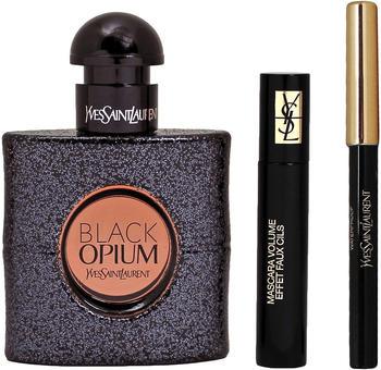 Yves Saint Laurent Black Opium Eau de Parfum 50 ml + Mini Mascara Nr.01 + Mini-Eyeliner-Stift Geschenkset