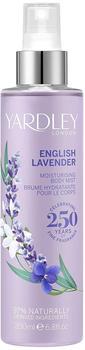 Yardley London English Lavender Moisturising Fragrance Body Mist 200ml