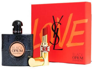 Yves Saint Laurent Black Opium Eau de Parfum 50 ml + Rouge Volupte Glanz N83 Lippenstift Geschenkset