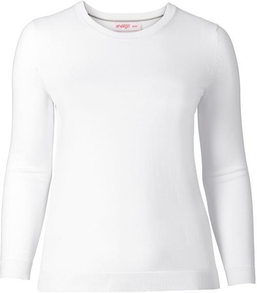 Sheego Basic Pullover weiß (115732-00010)