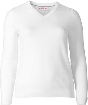 Sheego Casual Basic Pullover weiß (101010-00010)