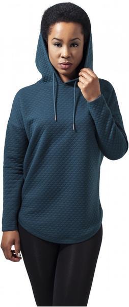 Urban Classics Ladies Quilt Oversize Hoody blau (TB1323PET)