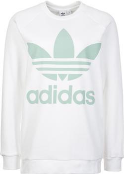 adidas-trefoil-oversize-sweatshirt-weiss-cy4757