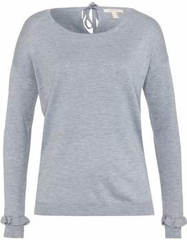 Esprit Softer Pullover mit Rüschen und Schleife medium grey (127EE1I023)