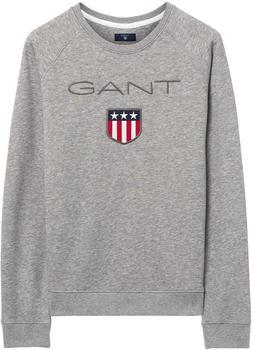 GANT Logo Pullover grey melange (4204612-93)
