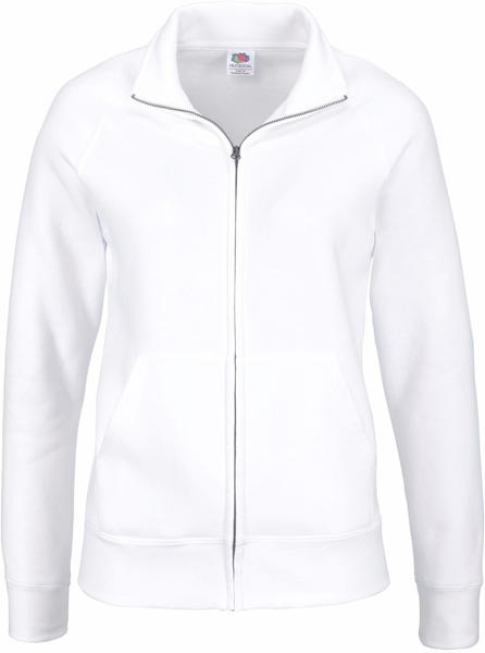 Fruit of the Loom Lady-Fit Premium Sweat Jacket white (62-116-0)