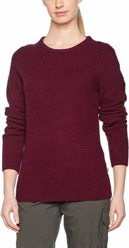 Fjällräven Övik Structure Sweater W dark garnet