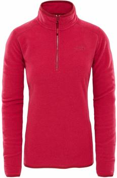 The North Face Women´s 100 Glacier Pullover rumba red/cerise pink stripe
