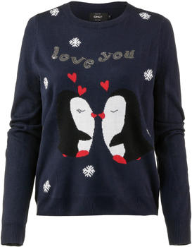Only Weihnachts-Strickpullover night sky (15161679)