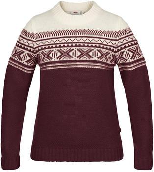 Fjällräven Övik Scandinavian Sweater W dark garnet