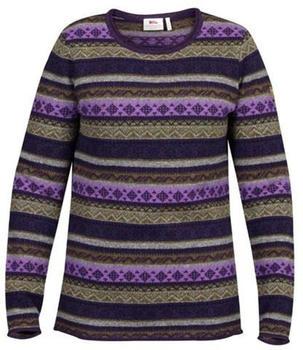 Fjällräven Övik Folk Knit Sweater W alpine purple