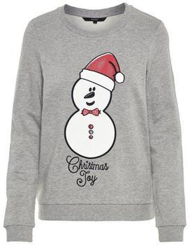 Vero Moda Print Weihnachtspullover light grey (10203858)