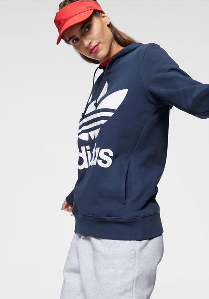Adidas Originals Trefoil Hoodie Damen dark blue (DV2568)