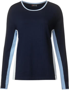 Street One Color Blocking Pullover deep blue (A300857)