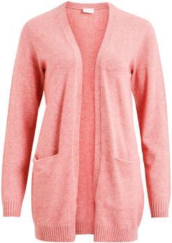 Vila Viril Open Strickjacke pink