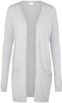 Vila Viril Open Strickjacke light grey