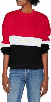 Tommy Hilfiger Farbblock-Sweatshirt mit Logo-Tape red (DW0DW06001)