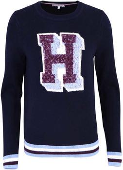 Tommy Hilfiger Monogramm-Pullover mit Rundhalsausschnitt (WW0WW23914)