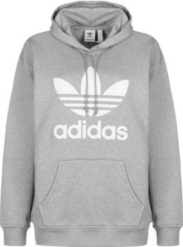 Adidas Originals Trefoil Overhead Hoodie grey heather/white (FM3304)