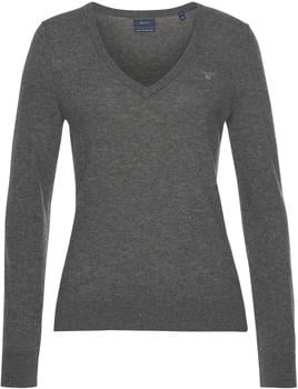 GANT Extra Fine Lambswool V-Neck Sweater grey (4800502-97)