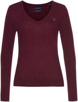 GANT Extra Fine Lambswool V-Neck Sweater red (4800502-678)