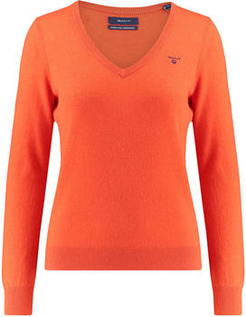 GANT Extra Fine Lambswool V-Neck Sweater atomic orange (4800502-836)