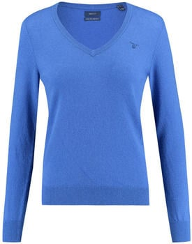 GANT Extra Fine Lambswool V-Neck Sweater nautical blue (4800502-422)
