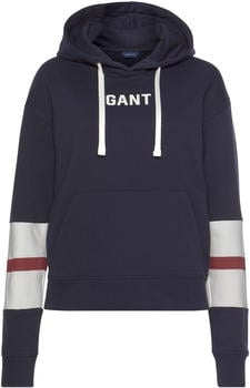 GANT Graphic Block Stripe Hoodie evening blue (4203624-433)