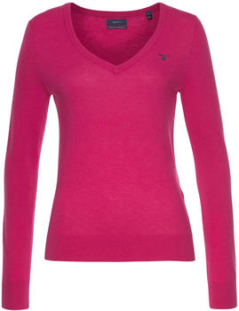 GANT Extra Fine Lambswool V-Neck Sweater rich pink (4800502-668)