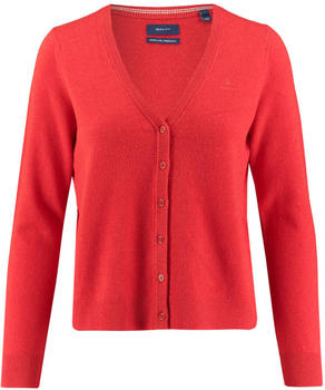 GANT Super Fine Lambswool Cardigan blood orange (4805506-818)