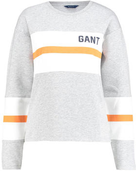 GANT Graphic Block Stripe Sweatshirt light grey (4203623-94)