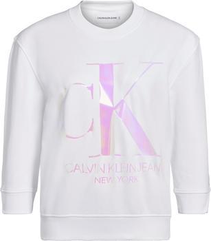 Calvin Klein Iridescent Monogram Crew Neck Sweatshirt (J20J213481) white