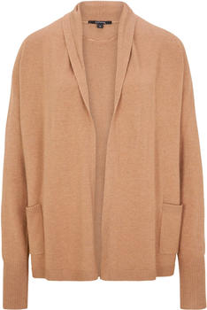 Comma Open-fronted cardigan (85.899.64.2450) camel melange