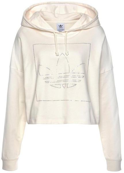 Adidas Cropped Hoodie (FM1911) chalk white