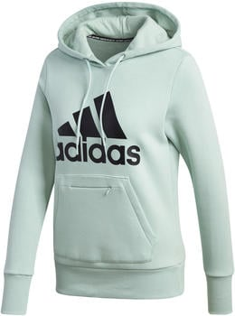 Adidas Women Athletics Badge of Sport Long Hoodie green tint